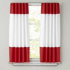 """63"""" Color Edge Curtain (Red)"""