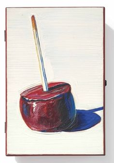 Wayne Thiebaud, Candy Apple Cigar Box. Thiebaud is an inspiration to me. He was also a graphic artist at Mather AFB, as was I as a civilian for a time.
