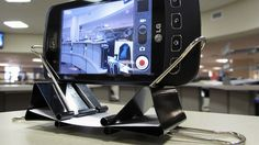 Easy Smartphone Dock | Community Post: 54 Uses For Binder Clips That Will Change Your Life