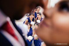 Peeking Bridesmaids! Loved capturing this shot at this lovely indian wedding!