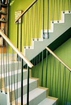 hairpin stair railing. Repinned by Secret Design Studio, Melbourne. www.secretdesignstudio.com
