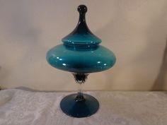 1950's Era Art Glass Candy Dish Viking