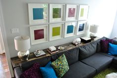 Young House Love | What To Put On A Console Table Behind A Couch | http://www.younghouselove.com
