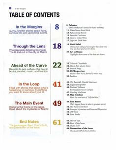 25 best magazine toc images on pinterest magazine table table of