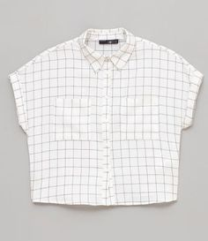 Camisa Xadrez Grid com Bolsos - Renner Edgy Outfits, Retro Outfits, Cool Outfits, Fashion Outfits, Shirt Store, Aesthetic Clothes, Types Of Fashion Styles, Cute Fashion, My Outfit