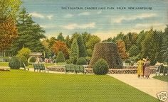 Postcard of The Fountain at Canobie Lake Park