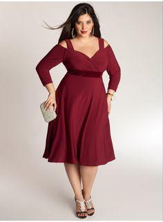 Siren Dress in Burmese Ruby