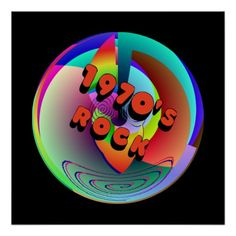 pictures of old rock and roll posters from the 1970's | find this funky retro 1970 s abstract rock design on rockin t shirts ...