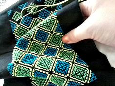 Traditional Hmong Pattern Flower Cloth, or in other words, Paj Ntaub. Cross Stitching, Cross Stitch Embroidery, Embroidery Patterns, Hand Embroidery, Cross Stitch Pillow, Just Cross Stitch, Cross Stitch Designs, Cross Stitch Patterns, Palestinian Embroidery