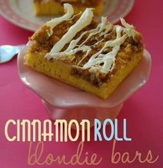 Cinnamon Roll Blondie Bars | AllFreeCasseroleRecipes.com