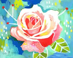 Rose - 8x10 print  Love this print (and so many others) by Katie Daisy! On Etsy.  $18