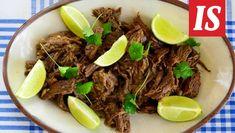 Vaca frita - paistettua naudan kuvetta - Reseptit - Ilta-Sanomat Beef, Cooking, Food, Cow, Red Peppers, Meat, Kitchen, Essen, Meals
