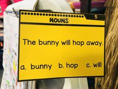 Teach nouns with thi