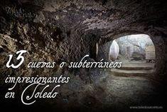 Muchos desconocen es que bajo Toledo, se oculta otra ciudad, más antigua que la actual, oscura y húmeda a la que sólo unos pocos pueden acceder... The Good Place, Madrid, Spain, Places To Visit, Around The Worlds, Travel, Amazing Places, Journey, History