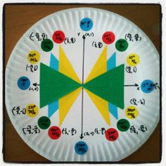 Real, and irrational.: Trigonometry Unit Circle Fun - This looks a bit easier to make and read for my paper plate project. Unit Circle Trigonometry, Trigonometry Worksheets, Math Teacher, Math Classroom, Teaching Math, Teaching Ideas, Classroom Ideas, Classroom Inspiration, Future Classroom
