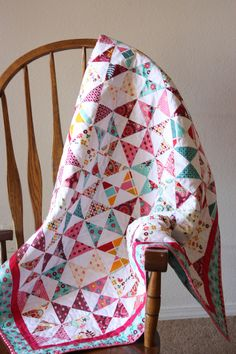 Baby Girl Hourglass Quilt. $75.00, via Etsy.