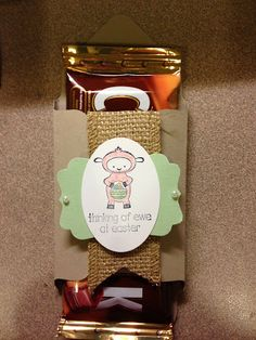 stampin4fun: An easy treat holder using Stampin' Up! envelope punch board and the eggstra spectacular stamp set
