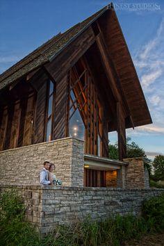 Marjorie Powell Allen Chapel at Powell Gardens: Finest Studios Wedding Photo By Peter John Schrock