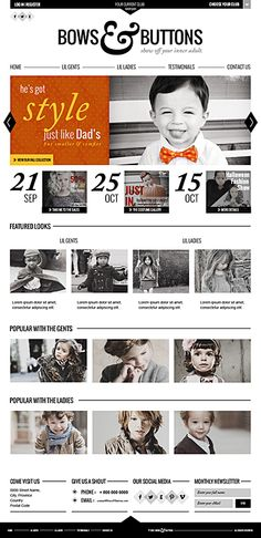 Bows & Buttons -Show Off Your Inner Adult. by Harjeet Gill, via Behance
