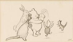 I really wish I had $200000 to buy an original Winnie-the-Pooh sketch...