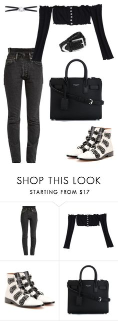 """""""Untitled #1892"""" by kellawear on Polyvore featuring Vetements, Givenchy, Yves Saint Laurent and rag & bone"""