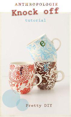 diy anthropology mugs