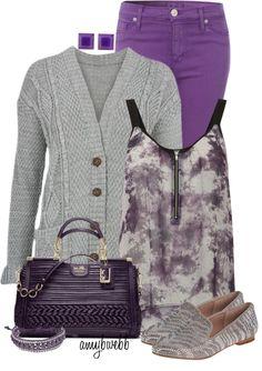 """Purple Jeans"" by amybwebb ❤ liked on Polyvore"