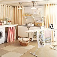 laundry room~ if yours is in the basement like mine is, this would be a dream!
