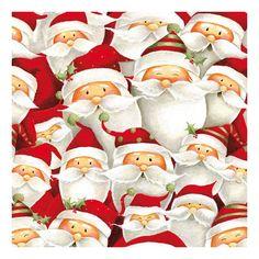 Santa Claus servetjes 20 stuks  Kerstmannetjes servetten 20 stuks. Papieren servetten bedrukt met plaatjes van kerst mannetjes. De servetten zijn 33 x 33 cm.  EUR 3.95  Meer informatie