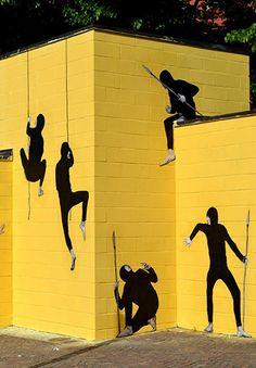 Levalet - Introspection, Fondi - Memorie Urbane street art festival - Anna Home 3d Street Art, Murals Street Art, Amazing Street Art, Mural Art, Street Art Graffiti, Street Artists, Graffiti Artists, Pop Art, Festival D'art