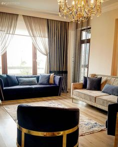 home decor luxury Bu Giresun Evi Modern - Luxury Apartments, Luxury Homes, Blinds For Windows Living Rooms, Living Room Designs, Living Spaces, Classic Living Room, Table Furniture, Home Accessories, Sweet Home