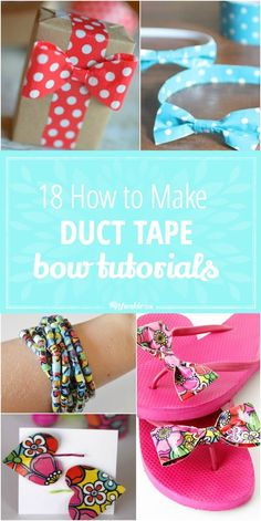 18 HOW TO MAKE DUCT TAPE BOW TUTORIALS B-jpg