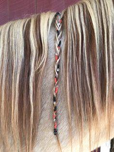 Beads for Horses, Horse Braid Beads, Horse & Rider Matching Jewelry White Girl Braids, Blonde Box Braids, Girls Braids, Horse Mane Braids, Horse Hair Braiding, Half Braided Hairstyles, Box Braids Hairstyles, Half Updo, Box Braids Pictures