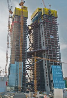 Construction Images, Under Construction, Ing Civil, Civil Engineering Construction, Future Buildings, Central Bank, High Rise Building, Steel Structure, Home Design Plans