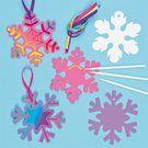 Snowflake Scratch Art Decorations