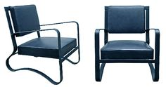 1950's Jacques Adnet Armchairs