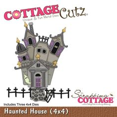 Cottage Cutz-4x4 Dies-Haunted House (triple die)