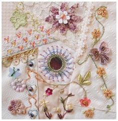 embroidery crazy quilt | Embroidery, Silk & Crazy Quilt / CQJP 2012 Blog: Maureen B., Australia