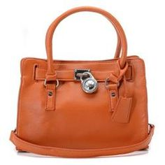 Michael Kors Saffiano Leather Small Brown Totes
