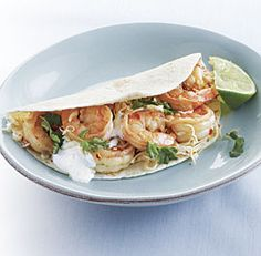 Quick Shrimp Tacos. I fixed these tonight (5/29) and they were delicious. I used some fresh Gulf shrimp and added some avocado and salsa verde to the mix. Yumm!