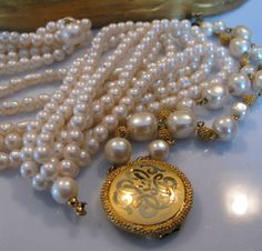 Collectible Liz Claiborne LCI Multi Strand Pearl by jewelrypicker, $12.99