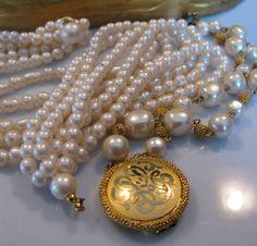 Collectible Liz Claiborne LCI Multi Strand Pearl by jewelrypicker, $12.99