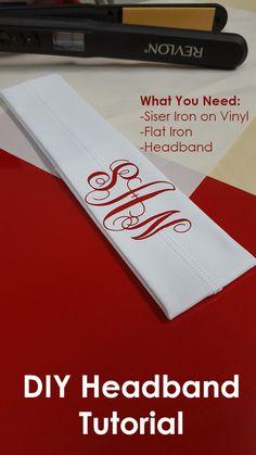 DIY Headbands tutorial using a flat iron and Siser heat transfer vinyl. siserblog.com
