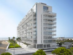 jesolo lido condominium, italy - richard meier & partners architects - designboom | architecture & design magazine