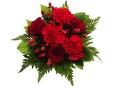 Punainen kukkakimppu