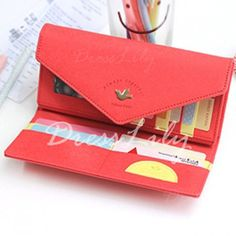 Elegant Solid Color and Metal Design Women's Wallet