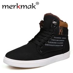 2017 Warm Winter Men Boots Fashion Men Ankle Boots with Thick Fur Snow Shoes Casual British Style Male Boots High Top Mens Shoes