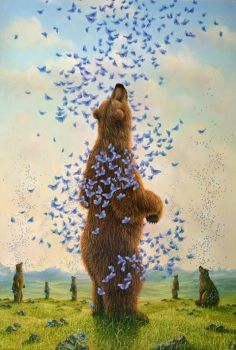 The Embrace - Robert Bissell - Contemporary fine art and prints Bear Illustration, Art Sculpture, Bear Art, Love Art, Amazing Art, Illustrators, Fantasy Art, Gallery, Drawings