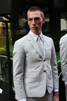 Thom Browne Seersucker I can't get enough of in a hot climate