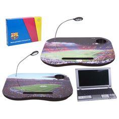 Mesa multiusos. Ilustraciones del Barça.  http://www.cosaspararegalar.es/ideas-para-regalar/regalos-practicos/mesas-tablet/mesa-barca-c-luz.html